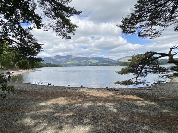 Skiddaw from Derwentwater footpath Lake District by topcatj