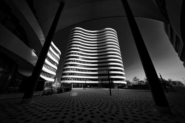 Architecture sunrise by icipix