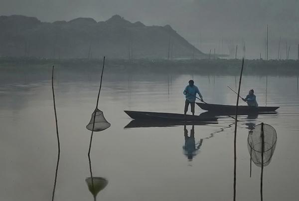On a misty morning by Shibram
