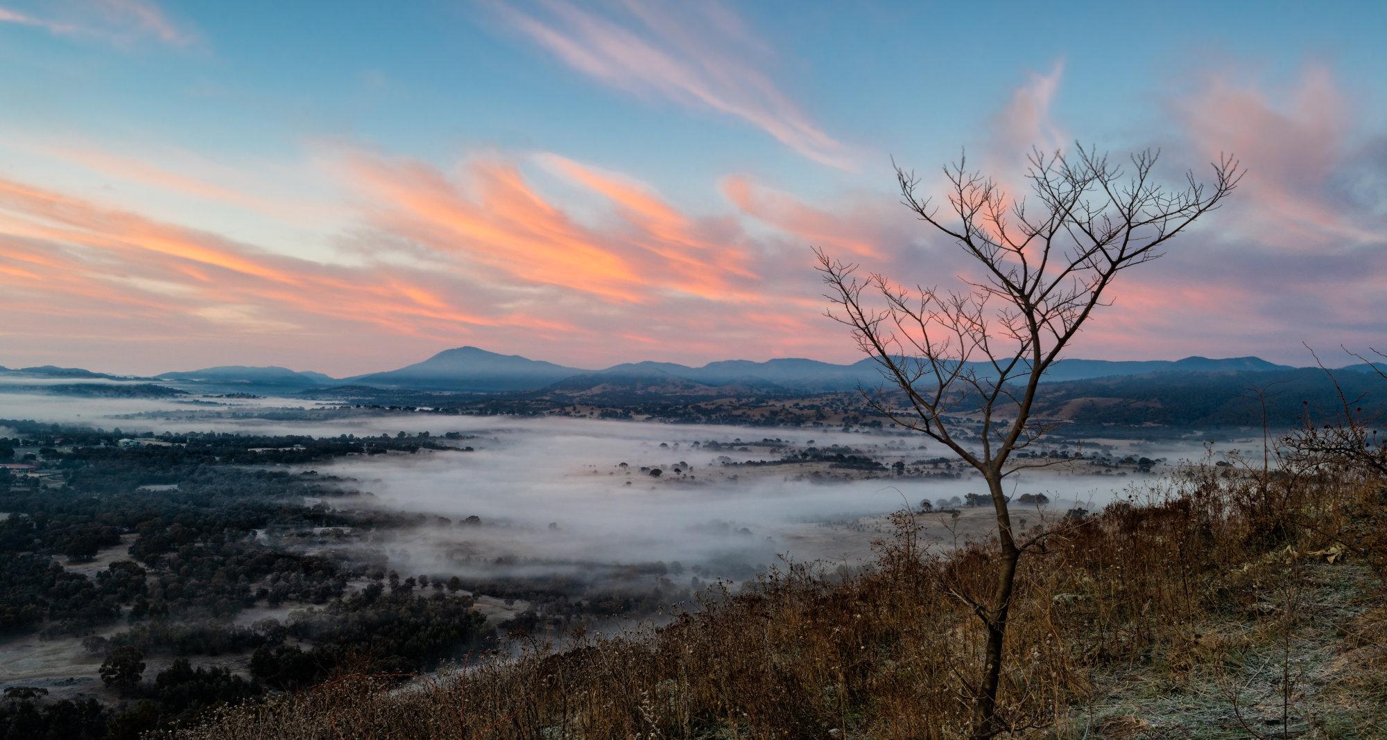 Dawn over the Murrumbidgee Valley