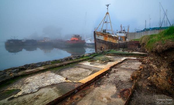 Boatyard in Mist by GraceC