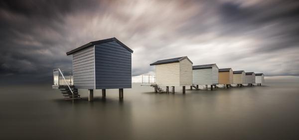 Osea Huts In The Sea by ianrobinson