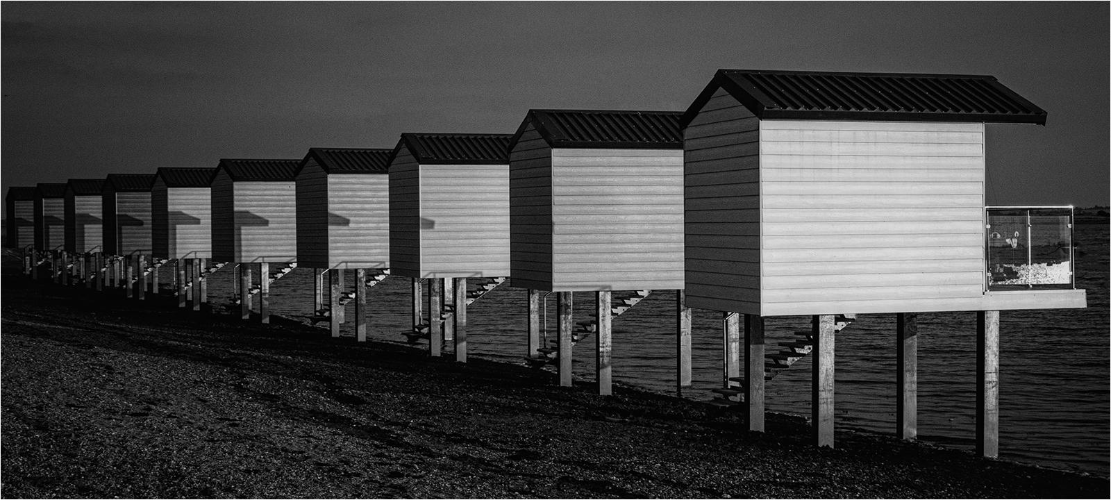 Stilted beach huts