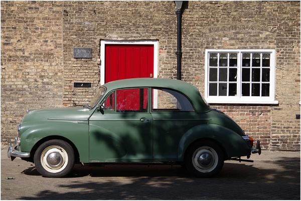 Green Morris and Red Door by johnriley1uk