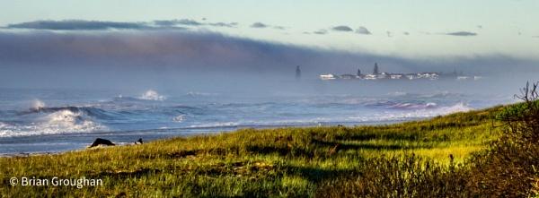 Wallabi Point through the mist by bgrphotographer