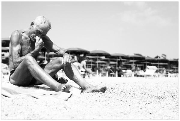 The man and the beach by bliba