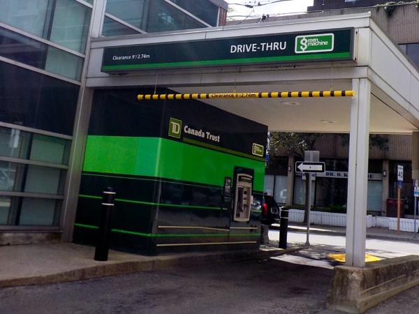the OUTSIDE TD BANK MACHINE by TimothyDMorton