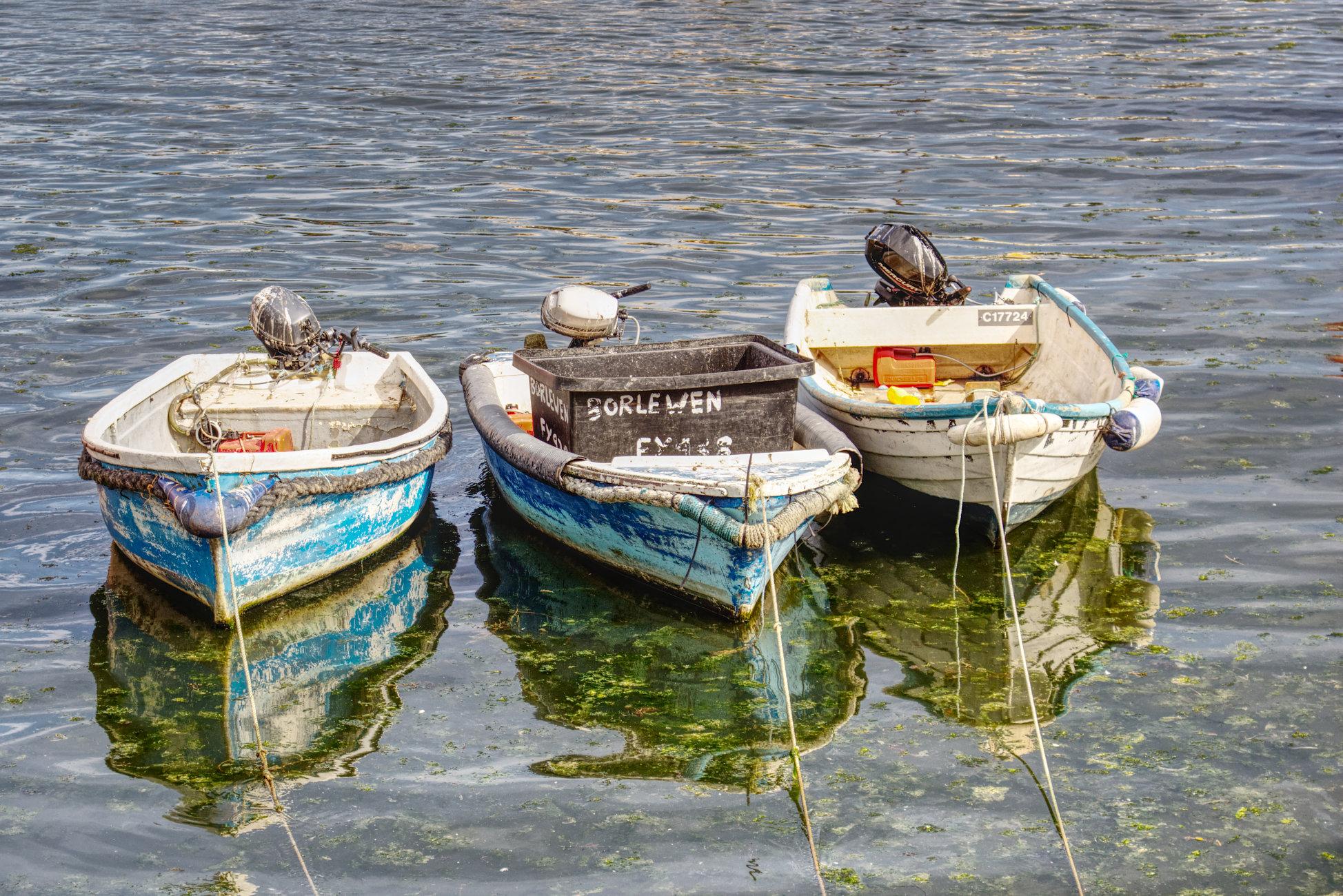 Three boats but no men