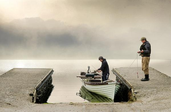 Kernan Lake Fishermen by SamCampbell