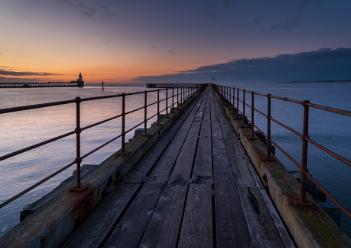 Blue Hour on Blyth Pier