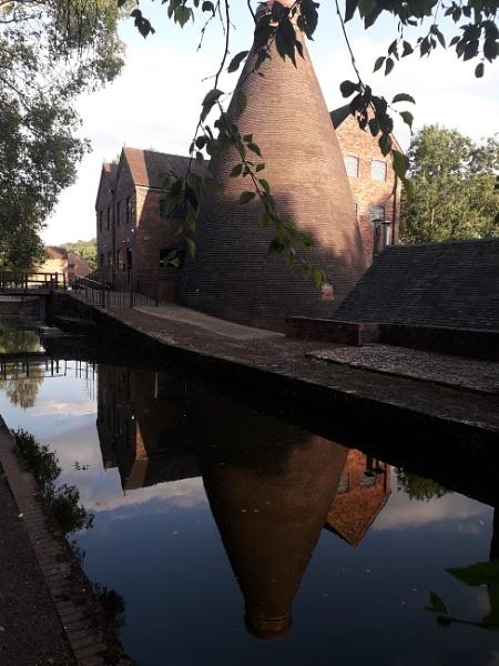 Coalport bottle kiln and Canal by Nigeltraveller