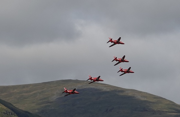 Photo bombed by the Red Arrows by frogs123