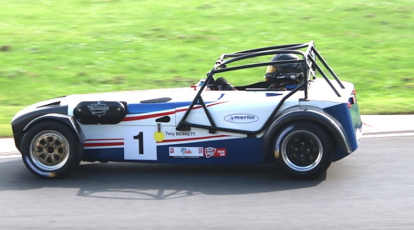 Caterham 7 by mountains