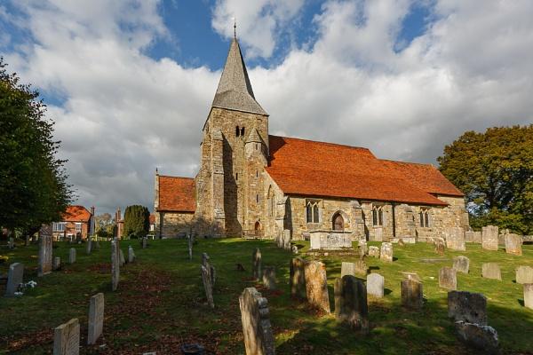 BURWASH, EAST SUSSEX, UK - OCTOBER 12 : View of Burwash Church by Phil_Bird