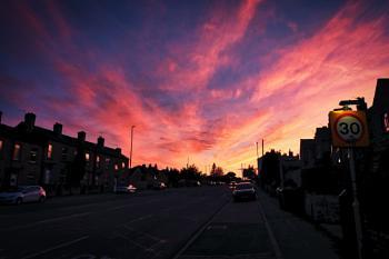 """""""Sunset on The Street""""."""