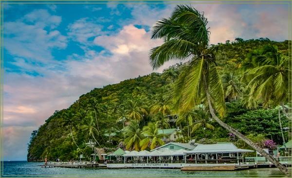 Doolittles Resturant Bar Marigot Bay St Lucia by ivalyn