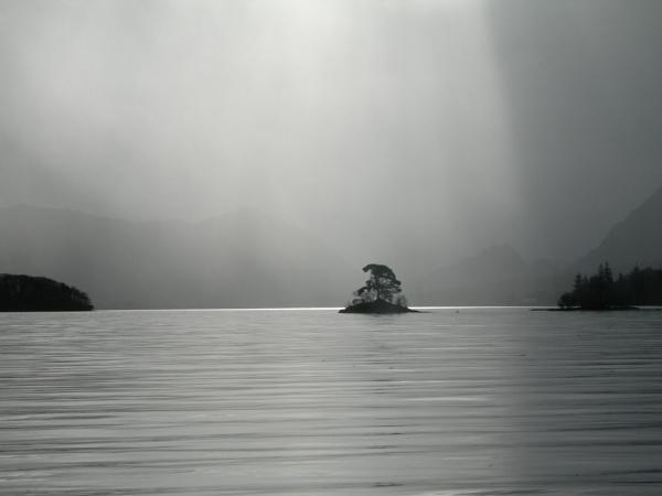 Rainy Day on Derwentwater Lake District by topcatj