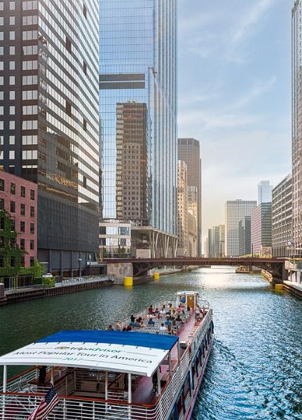 Chicago River Tour Boat by dbrigleb