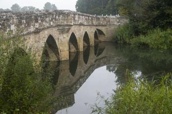 Reflection on a bridge