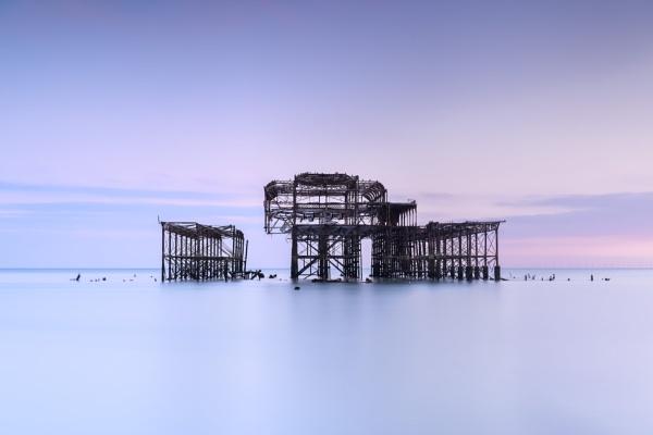 Brighton West Pier Sunset by PhilNewberry