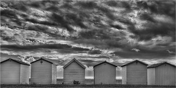 beach huts by judidicks