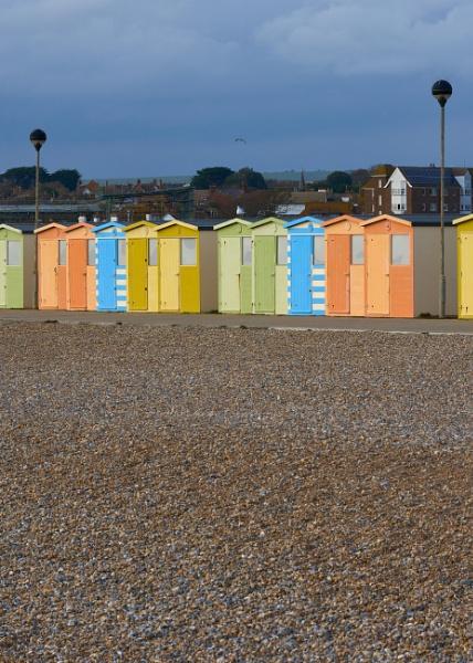 Beach Huts by JJGEE