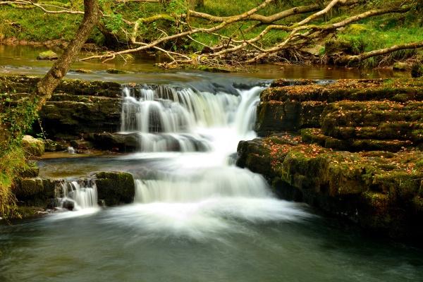 Falls at Pont Melin-fach, Brecon Beacons National Park. by LittleTaffia