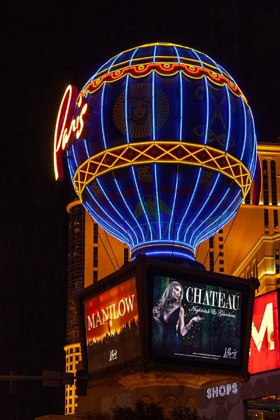 LAS VEGAS, NEVADA, USA - AUGUST 2 : Hot Air Lalloon Replica,  Paris Hotel at Night, in Las Vegas, Nevada, USA on August 2, 2011 by Phil_Bird