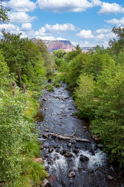 View of Oak Creek near Sedona in Arizona by Phil_Bird