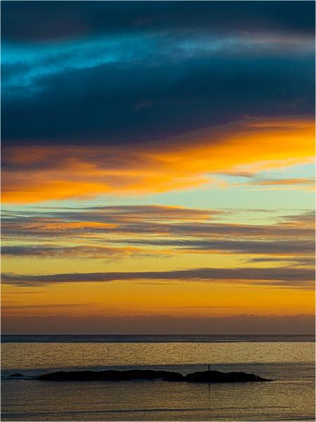 Sunset at Bigbury by Dixxipix