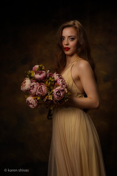 Lady with peonyÂ's by karen1961