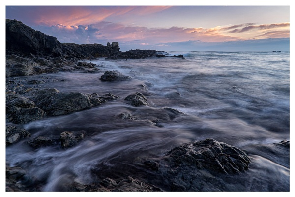 Waves at Sunset by happysnapper