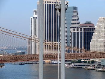 Crossing the bridge.  New York