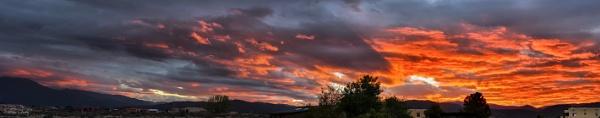 October Sunrise Panorama by billgoco