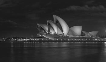 Sydney Opera House in Mono