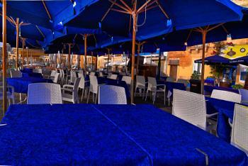 SUPERLATIVELY RICH BLUE (La Nostra Padrona ------- outdoor seating MARSAXLOKK MALTA)