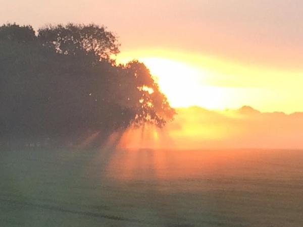 Autumn sunrise by topcatj