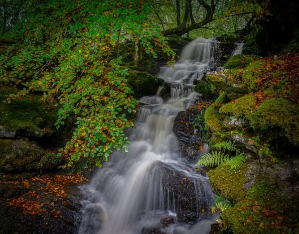 Autumn waterfall by Brenty