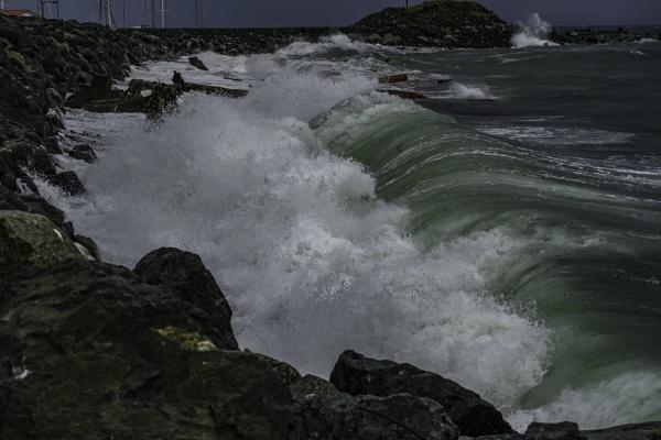 Big Green Rolling Wave by Daisymaye