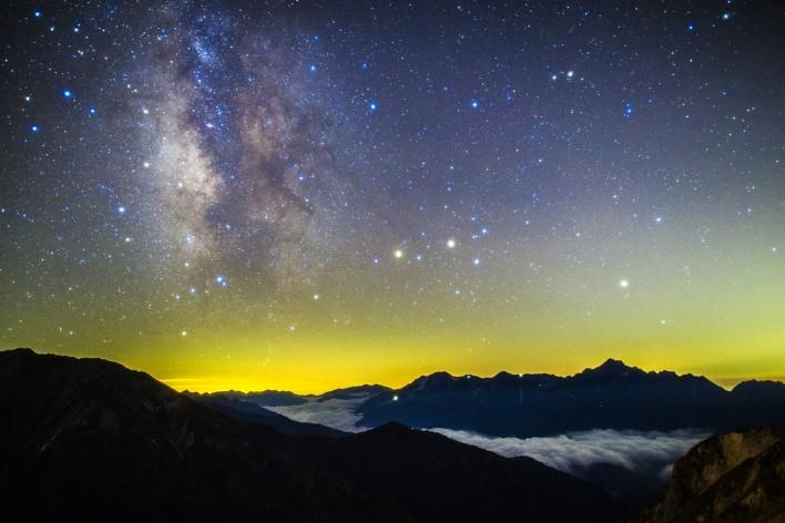 Mt. Tsurugi and the Milky Way