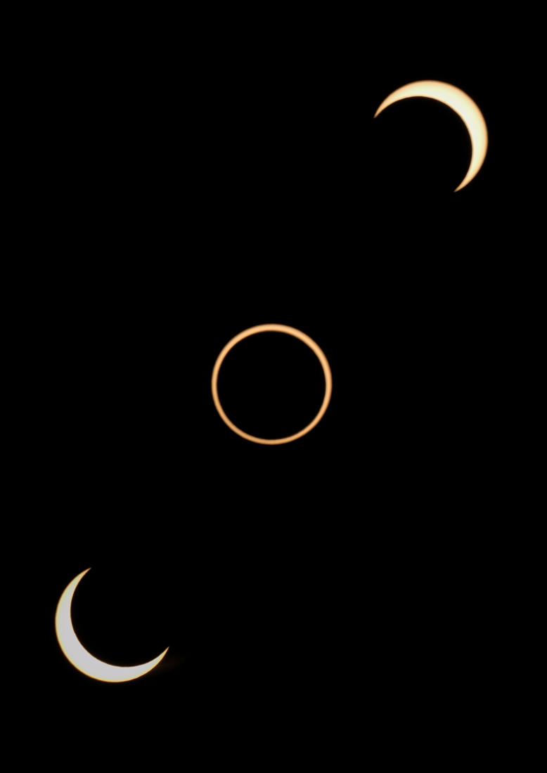 Illusion of Solar Eclipse